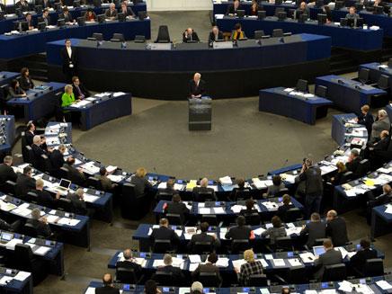 במשרד החוץ בירכו. מטה האיחוד האירופי