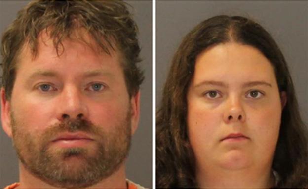 הזוג החשוד בחטיפה (צילום: AP)