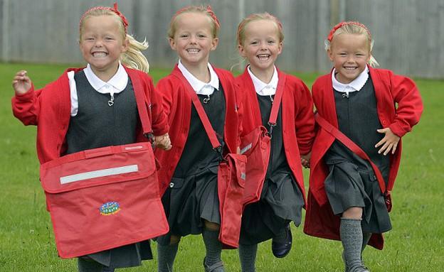 רביעיית בנות בבריטניה (צילום: ברוס אדאמס)