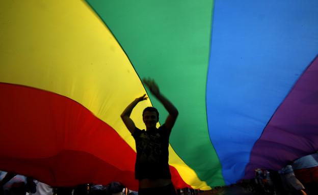 דגל גאווה (צילום: AP ,AP)