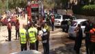נפילה בבאר שבע, פצוע מרסיס (צילום: חדשות 2)