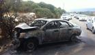 זירת התאונה באזור ג'ת, היום (צילום: דוברות כבאות מחוז צפון)