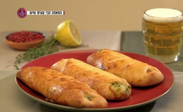 סטרומבולי גבינות ותרד (תמונת AVI: מתוך הכי טעים שיש ,שידורי קשת)