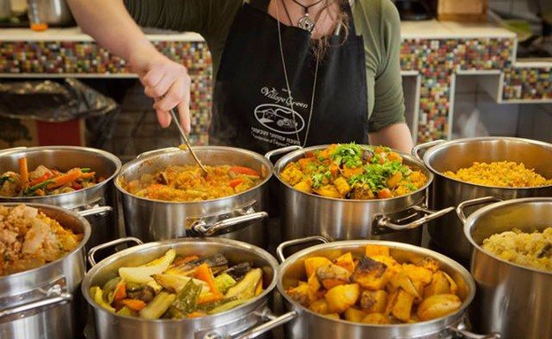 ויליג' גרין אוכל טבעוני (צילום: דן בלילטי)