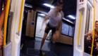 צפו: האיש שהתחרה ברכבת - וניצח (צילום: חדשות 2)