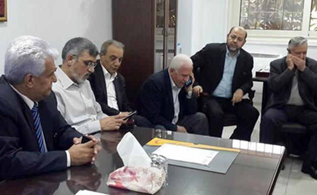 המשלחת הפלסטינית בסבב הקודם של השיחות בק