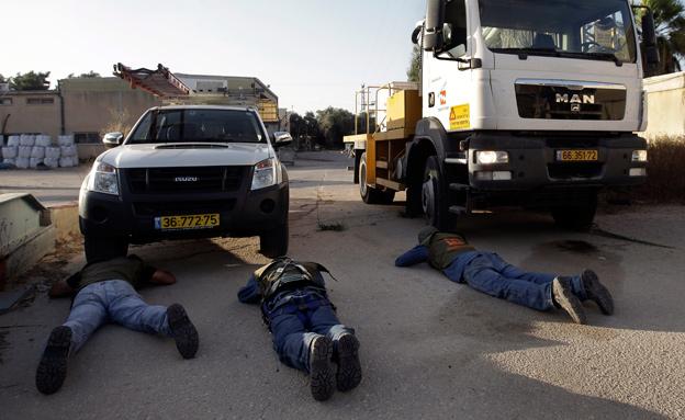 האזעקות נשמעו עד למרחב חיפה (צילום: AP)