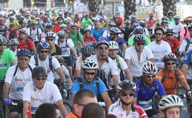 """מרוץ האופניים בשנה שעברה (צילום: עיריית ת""""א)"""
