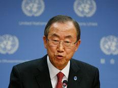 """מזכ""""ל האו""""ם באן קי מון, ארכיון (צילום: רויטרס)"""