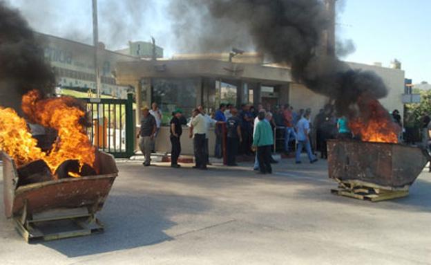 הפגנה במפעל פיניציה בשדרות, ארכיון (צילום: חדשות 2)
