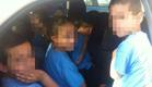 16 ילדים במכונית (צילום: חטיבת דוברות המשטרה, מרחב שפלה)