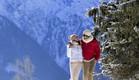 זוג בחופשת סקי (צילום: Frederic Berhet, באדיבות קלאב מד)