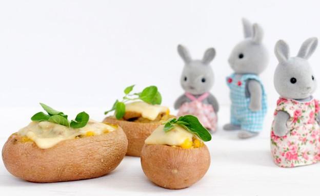 תפוחי אדמה ממולאים (צילום: שרית נובק ,אוכל טוב)