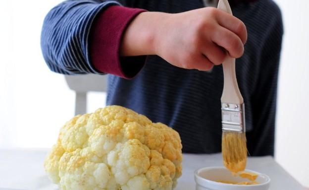 כרובית בציפוי חרדל - מצפים (צילום: שרית נובק ,אוכל טוב)