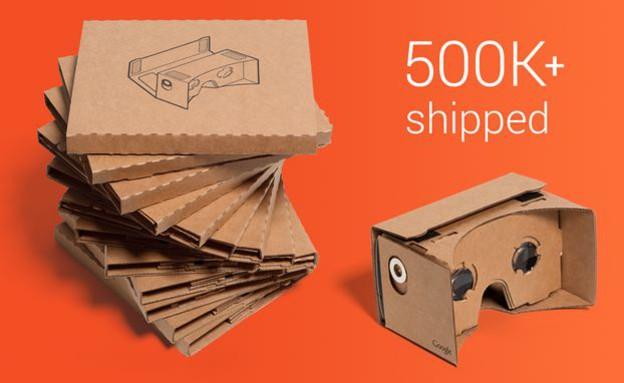 בדיחה שמכרה חצי מיליון עותקים. Google Cardboard (צילום: גוגל ,גוגל)