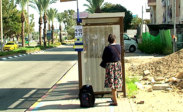 תחנת האוטובוס ממנה נחטפה הילדה (צילום: חדשות 2)