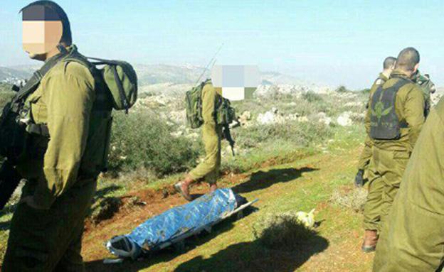 גופת הפלסטיני, אתמול (צילום: באדיבות הצלה יהודה ושומרון)