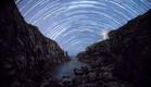 שבילי כוכבים ב-Fanad head - Ireland (צילום: Liron Buzaglo)
