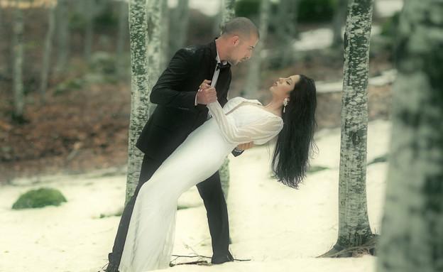 חתונה מושלגת (צילום: יניב שמן ,mako)