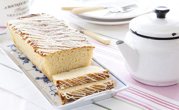 עוגת לימון וחמאה עם זיגוג סוכר  (צילום: אסף אמברם ,אוכל טוב)