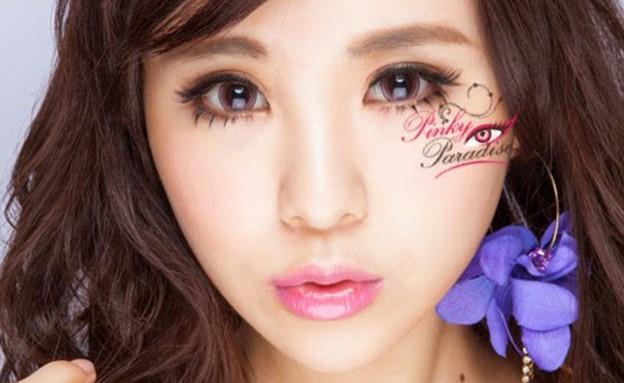 עדשות מעוגלות יוצרות עיני אנימה (צילום: www.pinkyparadise.com  ,mako)