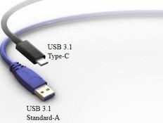 שרטוט של USB Type-C בהשוואה ל-USB Type-A (צילום: Foxconn)