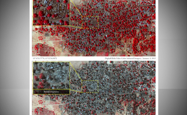 ההרס בבאגה, מאות בתים -נמחקו (צילום: הגרדיאן)