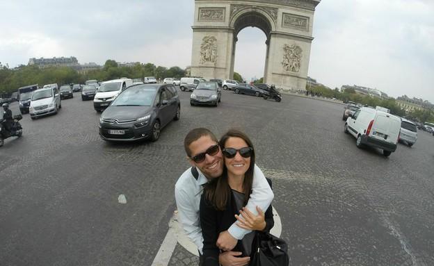 זוג בחופשה זוגית באירופה (צילום: מיטל איטקיס)