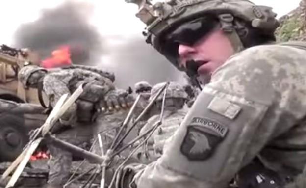 החיילים שחטפו שניצלו מפגיעת צלפים (צילום: youtube)