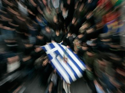 הפגנות נגד הצנע ביוון (צילום: רויטרס)