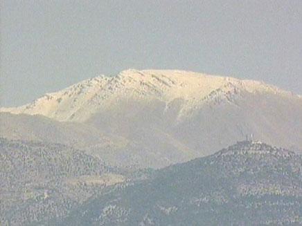הר החרמון מושלג (צילום: חדשות 2)