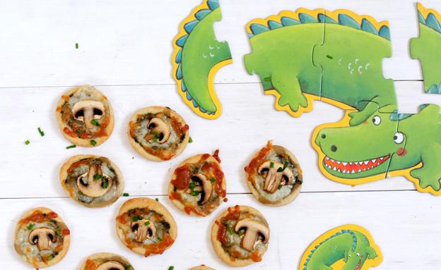 מאפי פטריות לילדים (צילום: שרית נובק ,אוכל טוב)