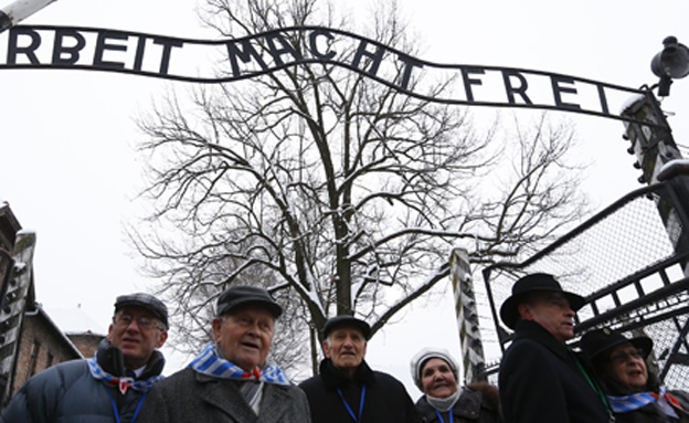 ניצולים בטקס לציון 70 שנה לשחרור אושוויץ (צילום: רויטרס)