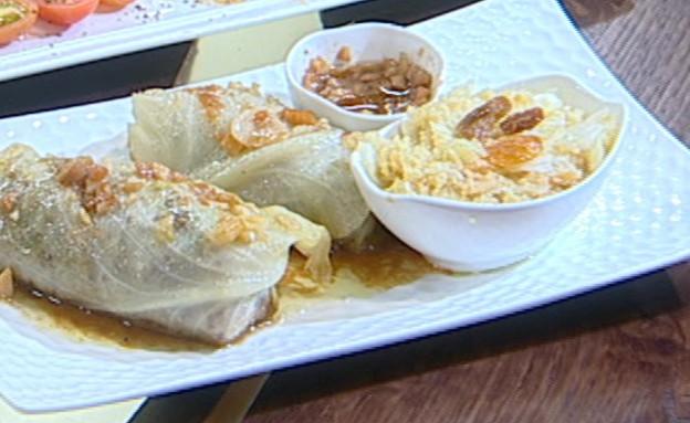 כרוב ממולא באורז ובשר וצנוברים (צילום: קשת ,מאסטר שף VIP)