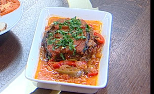חציל עם בשר (צילום: קשת ,מאסטר שף VIP)