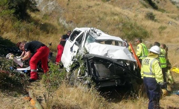 זירת התאונה הקשה (צילום: צילום מסך מתוך press.co.nz)