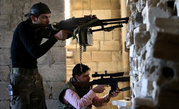 ייתקלו בכוחות לוחמה משולבים? כוחות המורדים (צילום: AP)