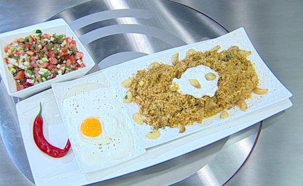 קיטשרי בתוספת ביצה עלומה וגבינות עיזים (צילום: קשת ,מאסטר שף VIP)