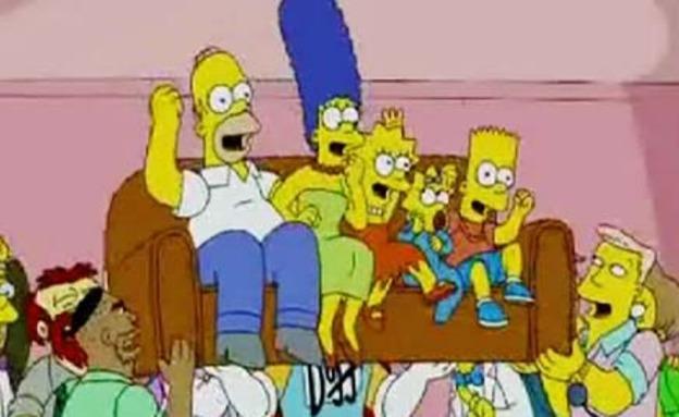 """""""רוצים את הסימפסונים!"""" (צילום: חדשות 2)"""