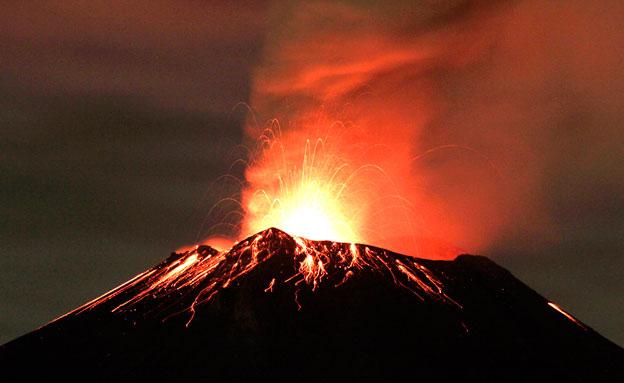 """""""התפרצות וולקנית עצומה תביא לכאוס"""" (צילום: רויטרס)"""