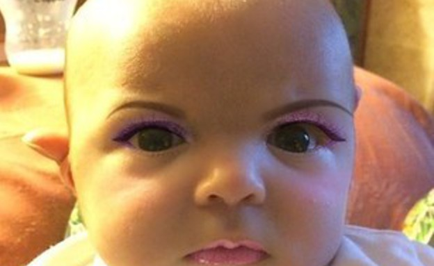 תינוק מאופר (צילום: יוטיוב )