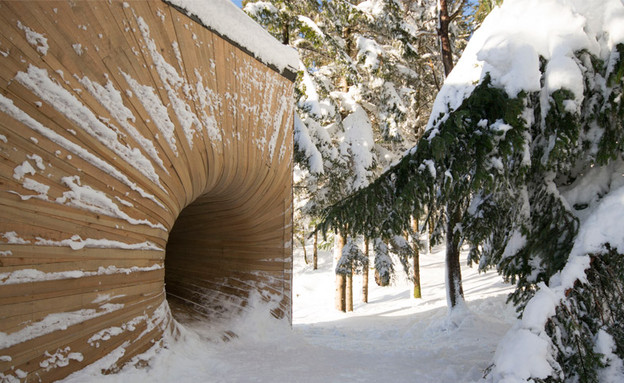 בקתת הרים נורבגית (צילום: Gunnar Sørås)
