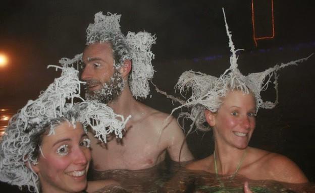 שיער קפוא (צילום: Takhini Hot Springs)