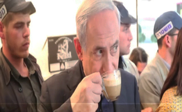 ביקור נתניהו בשוק מחנה יהודה (צילום: חדשות 2)
