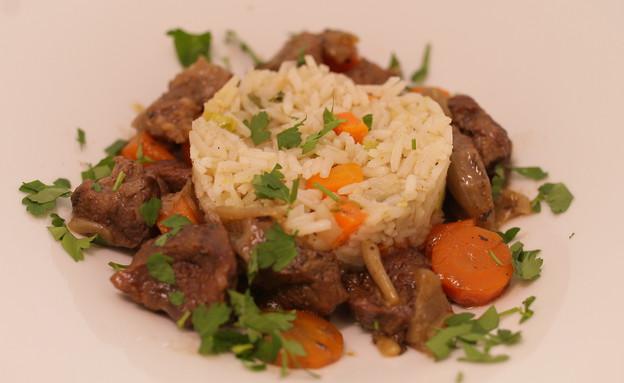אורז ובקר עם ירקות שורש (צילום: יהודה לוי ,אוכל טוב)