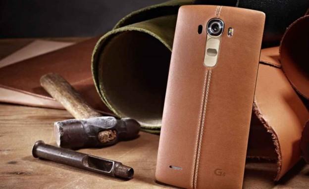 LG G4 עם גב מעור (צילום: LG ,יחסי ציבור)