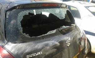 רכבו של הקצין לאחר התקיפה, היום