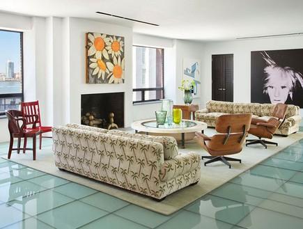 ה נירו מוכר את הבית, הסלון (צילום: Dolly Lenz Real Estate)