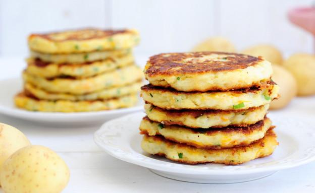 פנקייק תפוחי אדמה (צילום: שרית נובק ,אוכל טוב)