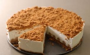 עוגת גבינה פירורים לוטוס ללא אפייה (צילום: נועם בסט ,אוכל טוב)